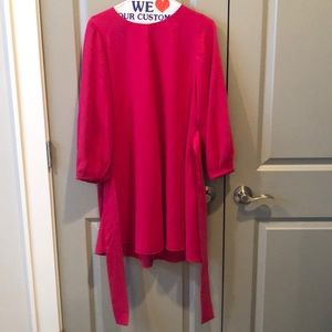 Zara Tied Dress Fucshia S NWT Recycled Poly!